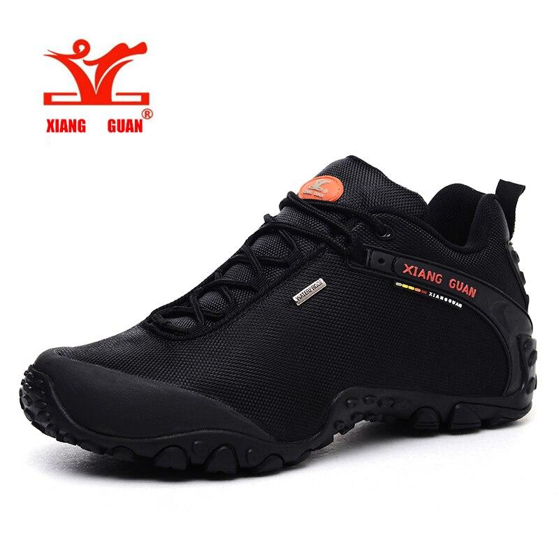 Zapatos de senderismo XIANGGUAN para hombre, calzado para deportes al aire libre, botas de Trekking atléticas para pesca, Botas de senderismo para mujer, escalada, senderismo, talla grande 36-48