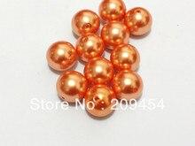 20mm 100 pcs/lot perles en vrac acryliques de perle dimitation ronde épaisse Orange profonde pour la fabrication de bijoux de collier