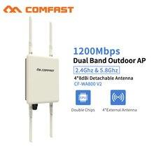 Répéteur Wifi extérieur 1200Mbps amplificateur dextension de portée Wi-fi sans fil 5G étanche 27dBm 802.11 ca routeur Wifi WISP Base AP