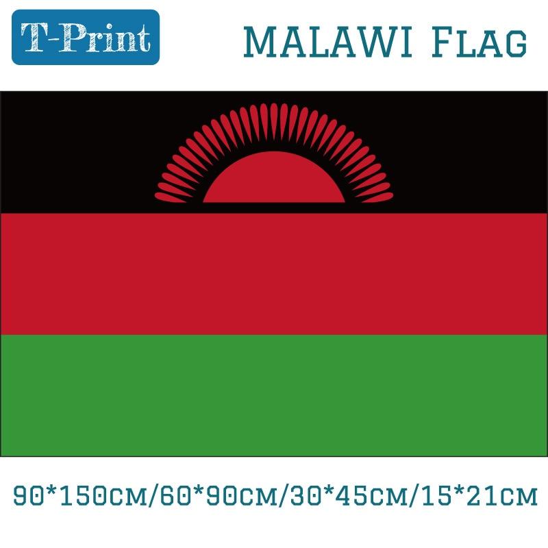 90*150 cm/60*90 cm Malawi Bandera Nacional 3x5ft colgante bandera poliéster 100d 30*45 cm/15 cm/* 21 cm