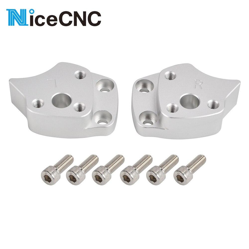 NICECNC Handlebar Riser For Yamaha FJR1300 FJR 1300 2001 2002 2003 2004 2005 Silver Motorcycle Handle bar Risers Mount Clamp