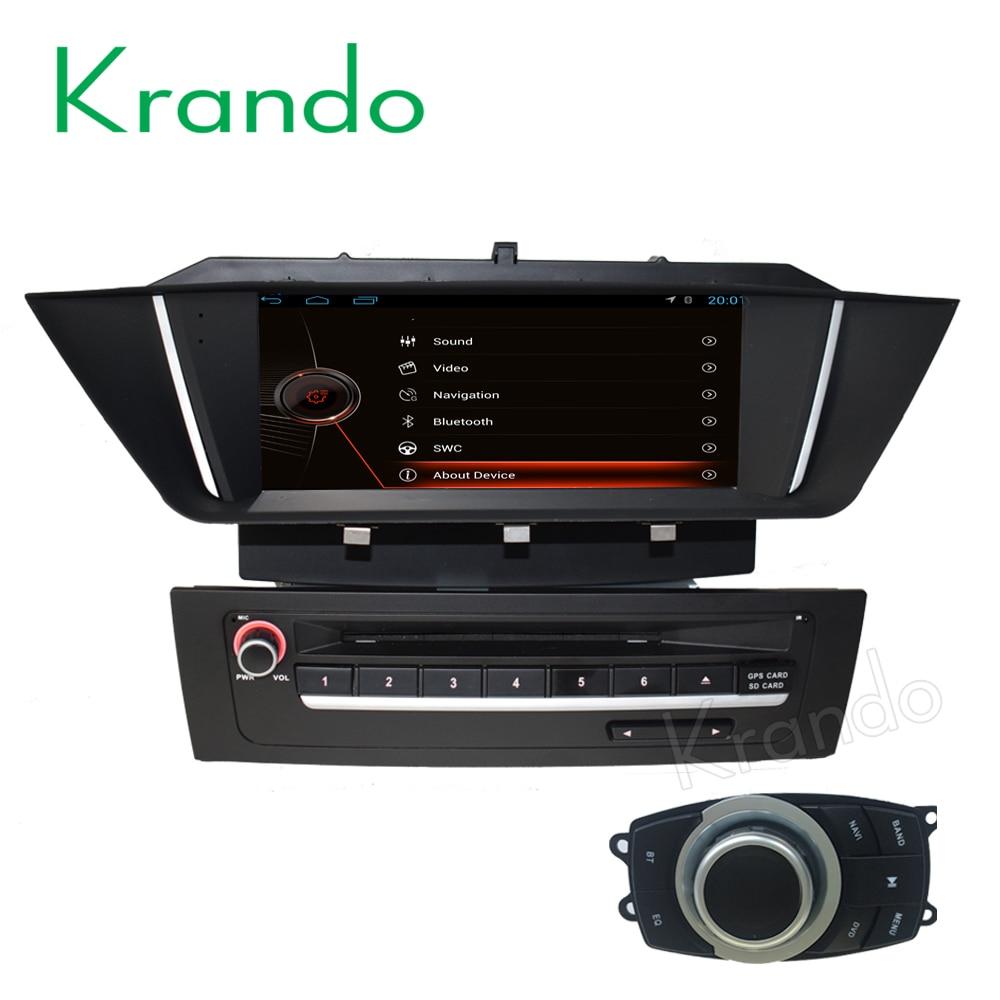 Krando android 8.1 rádio do carro gps dvd player para bmw x1 e84 2009 2010 2011 2012 2013 sistema de navegação multimídia wifi 3g dab +