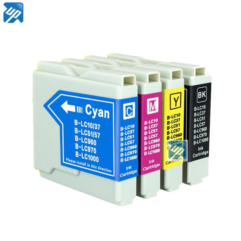 8pk cartucho de tinta Compatible para Brother LC10 LC37 LC51 LC57 LC970 LC1000 DCP130C/135C/150C MFC-230C/235C/240C/260C/265C