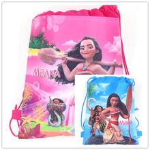 1pcs Moana Fashion Portable Drawstring Bag Girl Makeup Bag Shoes Bag Non-Woven Bag Fabric Travel Pou