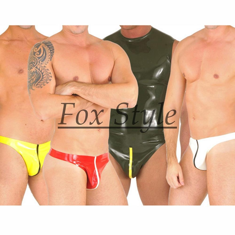 latex T-back for men thong