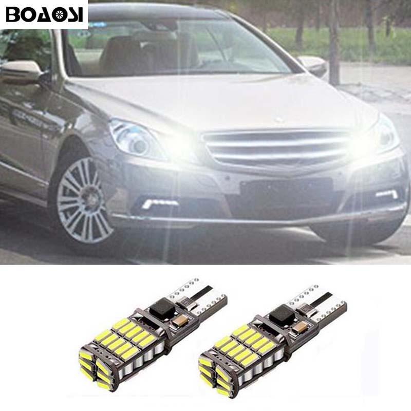 Автомобильная парковочная лампа BOAOSI 2x T10 194 W5W Canbus для Mercedes Benz CLS GLK E200 E260 E300 W219 W220 w202 w220 w204 w204 A/C/E/S/R