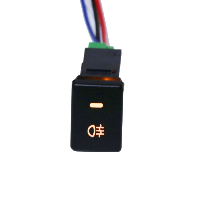 DC12V задний противотуманный фонарь кнопочный переключатель 4 провода кнопка для Toyota Camry Prius Corolla