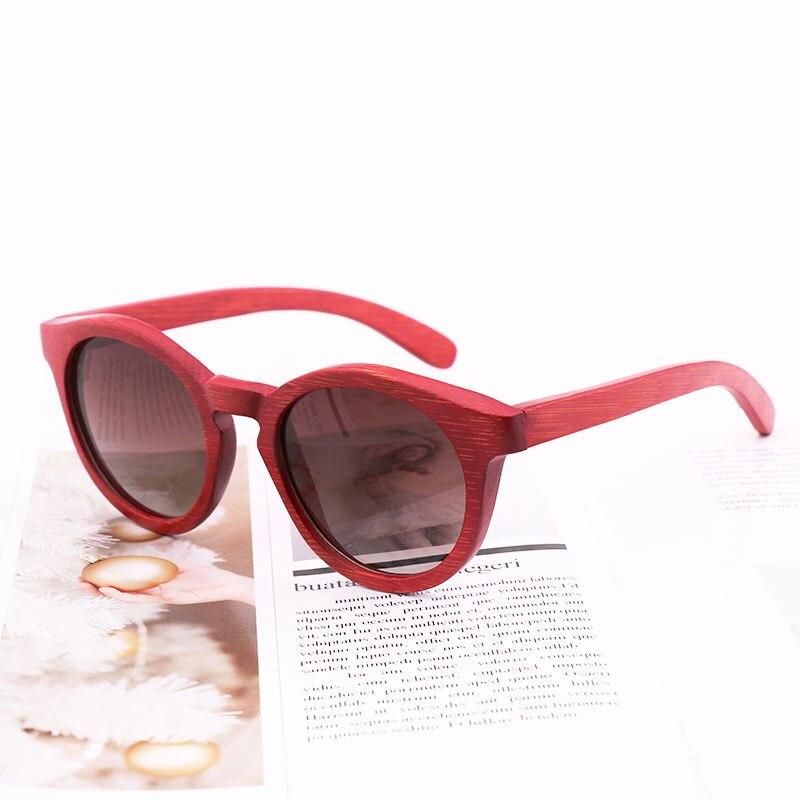 BerWer خشبية الخيزران مكبرة الرجال النساء Mirrored UV400 نظارات شمسية ظلال الخشب الحقيقي في الهواء الطلق نظارات شمسية