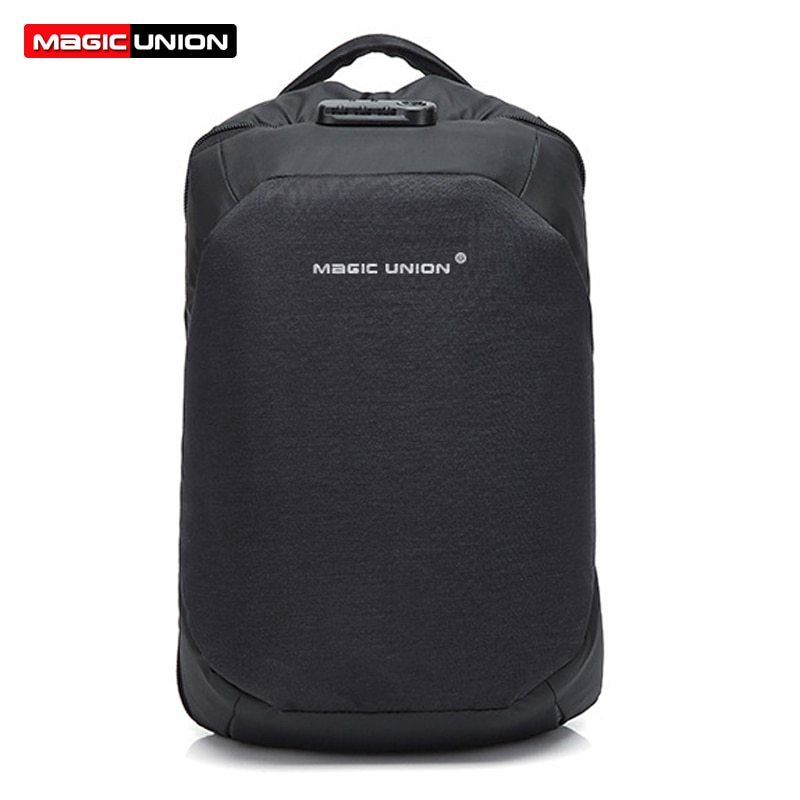 Bolso de viaje MAGIC UNION para hombre, mochila suiza para hombre, bolsas de poliéster, mochila antirrobo impermeable, mochilas para ordenador portátil para hombre + chubasquero
