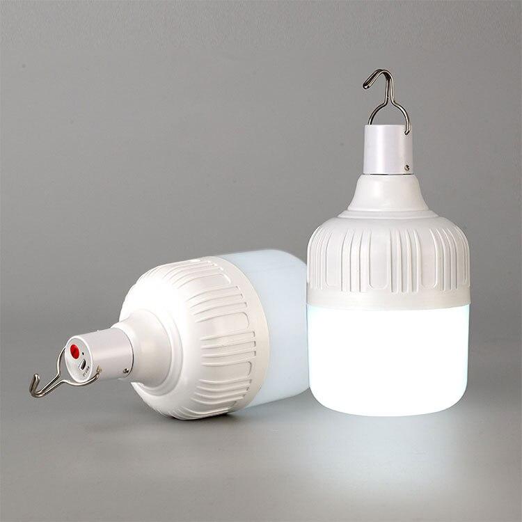Bombilla LED de Camping de 80/100/150 W, lámpara recargable farol LED portátil de emergencia, lámpara colgante para uso en exteriores