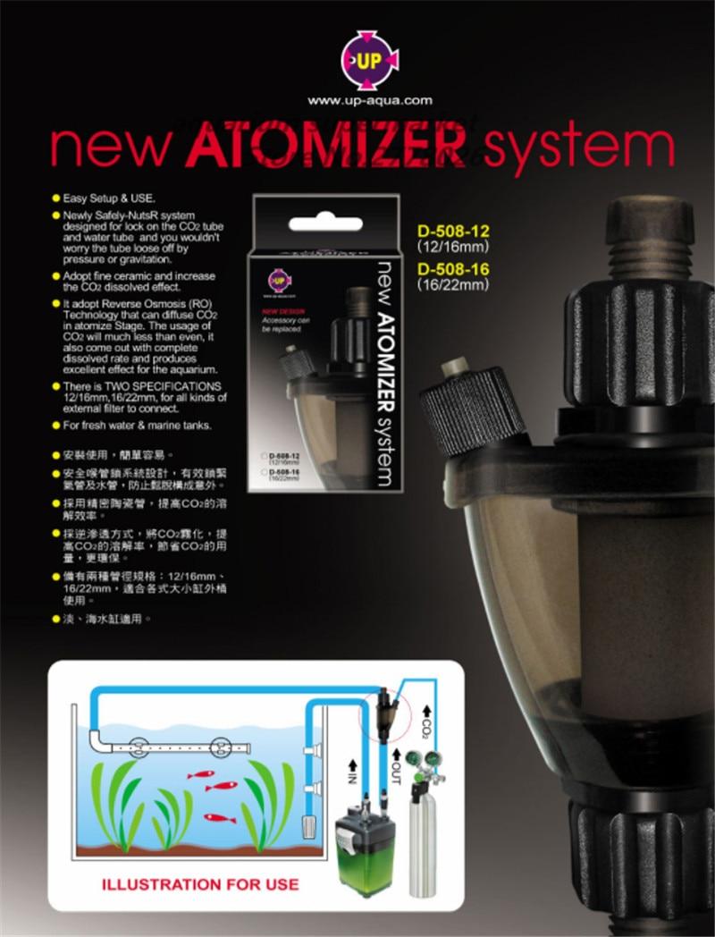 UP CO2 Atomizer external super Diffuser Reactor aquarium water plant fish tank landscape aquatic