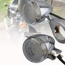 4 pièces universel Chrome avant arrière moto LED clignotant ambre lumière 39mm/41mm fourche pince clair lentille clignotant ajustement pour Harley