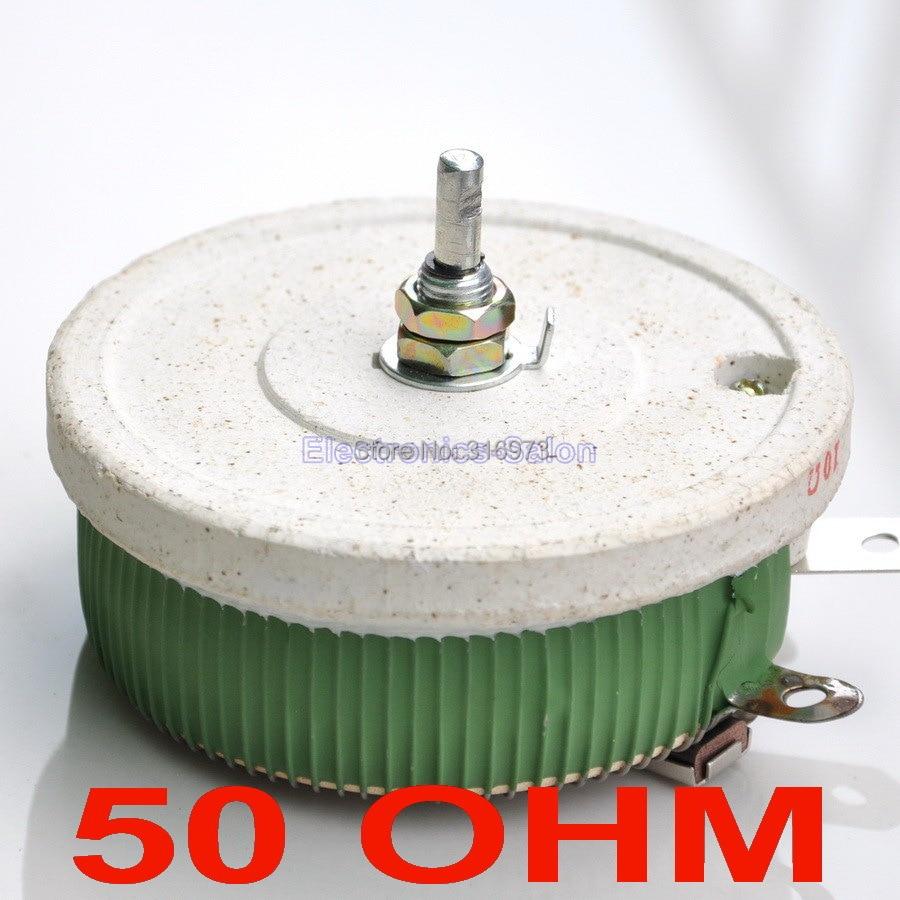 Potenciómetro bobinado de alta potencia de 50 OHM de 200 W, reostato, resistencia Variable, 200 vatios.
