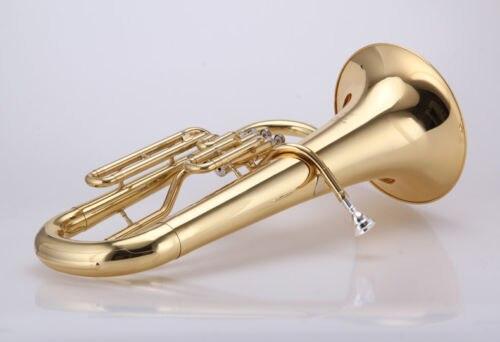 Válvula de pistón de 3 teclas válvulas de acero inoxidable de latón lacado en oro Euphonium