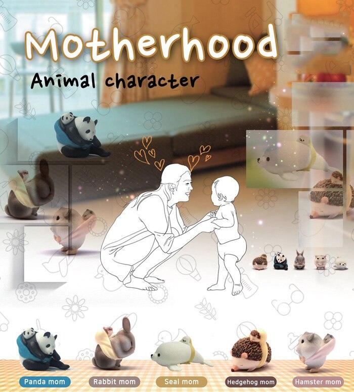 Японские Оригинальные Bulks капсулы, милые Материнские персонажи, панда, ежик, хомяк, кролик, печать, фигурки, игрушки, детский подарок