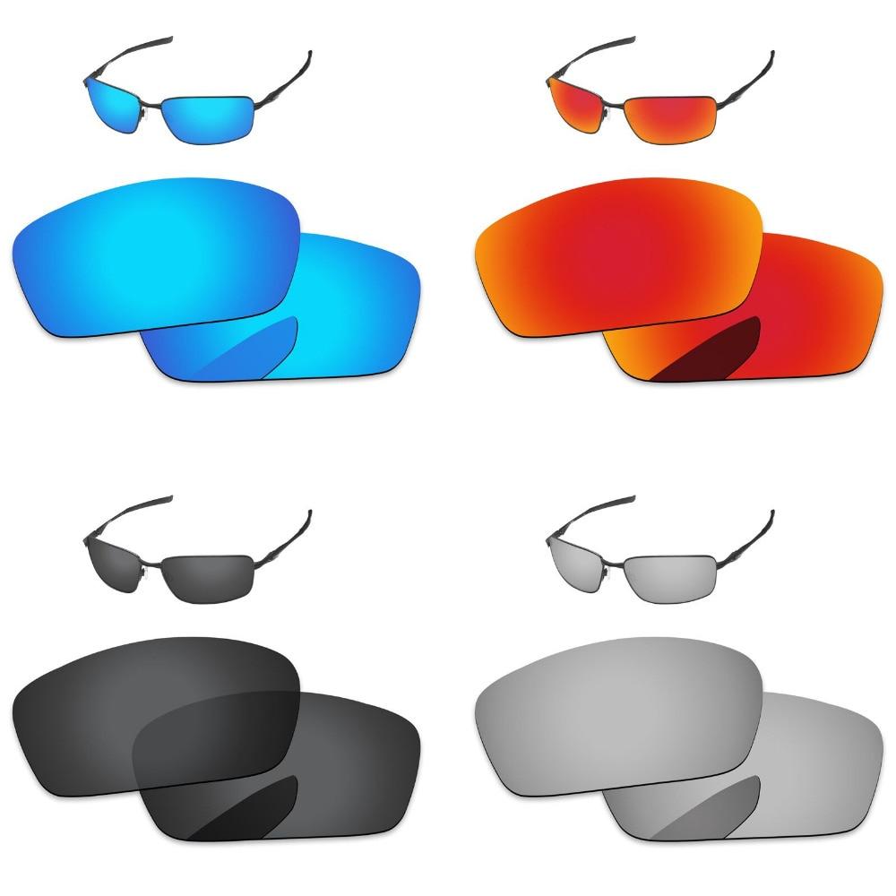 الأسود والفضة و الأزرق والأحمر 4 أزواج الاستقطاب عدسات لاستبدال سبلينتر النظارات الشمسية 100% UVA و UVB حماية