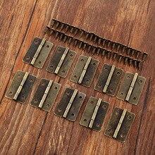 10 pièces 30*21mm Antique Bronze armoire charnières meubles décoration porte tiroir décoratif Mini charnière pour bijoux boîte en bois