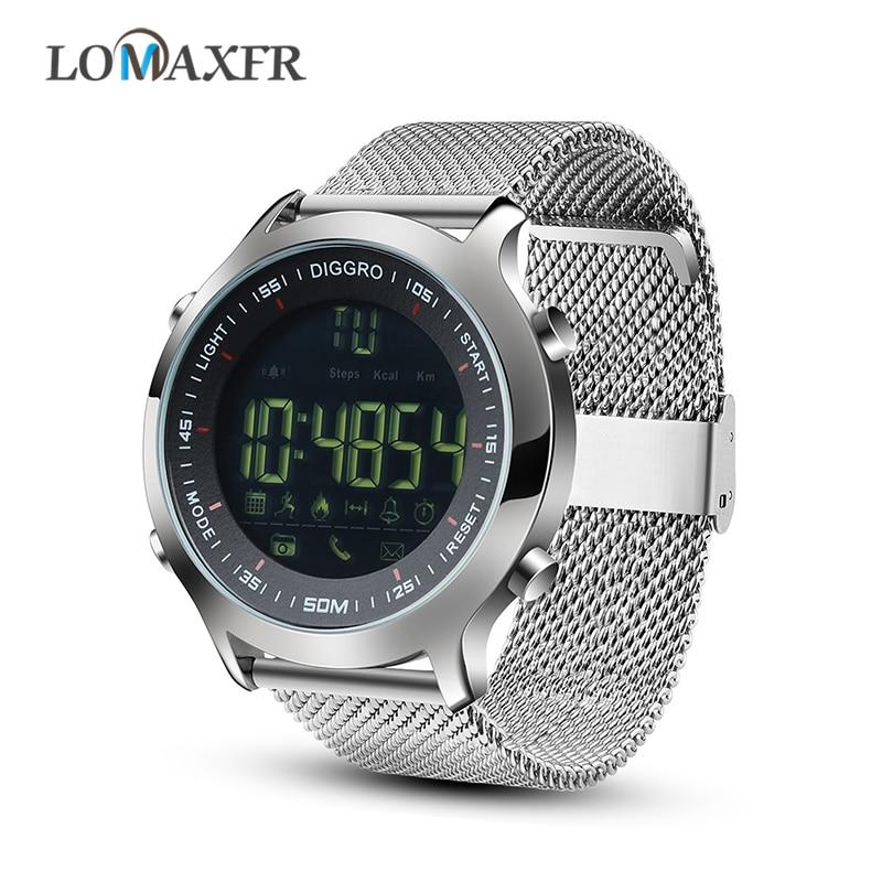 Reloj inteligente EX18 para hombre, pasómetro deportivo profesional resistente al agua IP68, rastreador de Fitness, reloj inteligente de natación con Bluetooth, reloj para teléfono