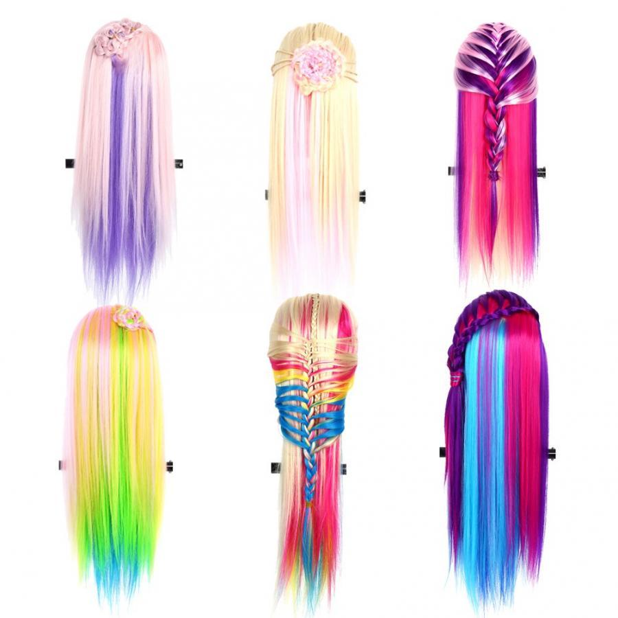 MANIQUÍ PARA peinados 26 salón colorido peluquería pelo entrenamiento práctica maniquí modelo cabeza con un peine gratis