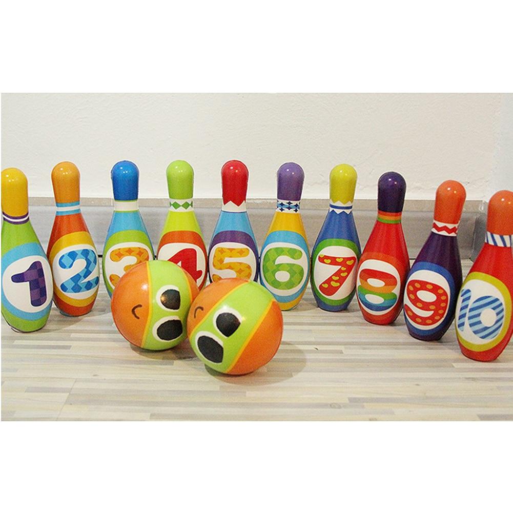 Детский набор для боулинга, мягкий домашний спортивный набор из полиуретана и хлопка