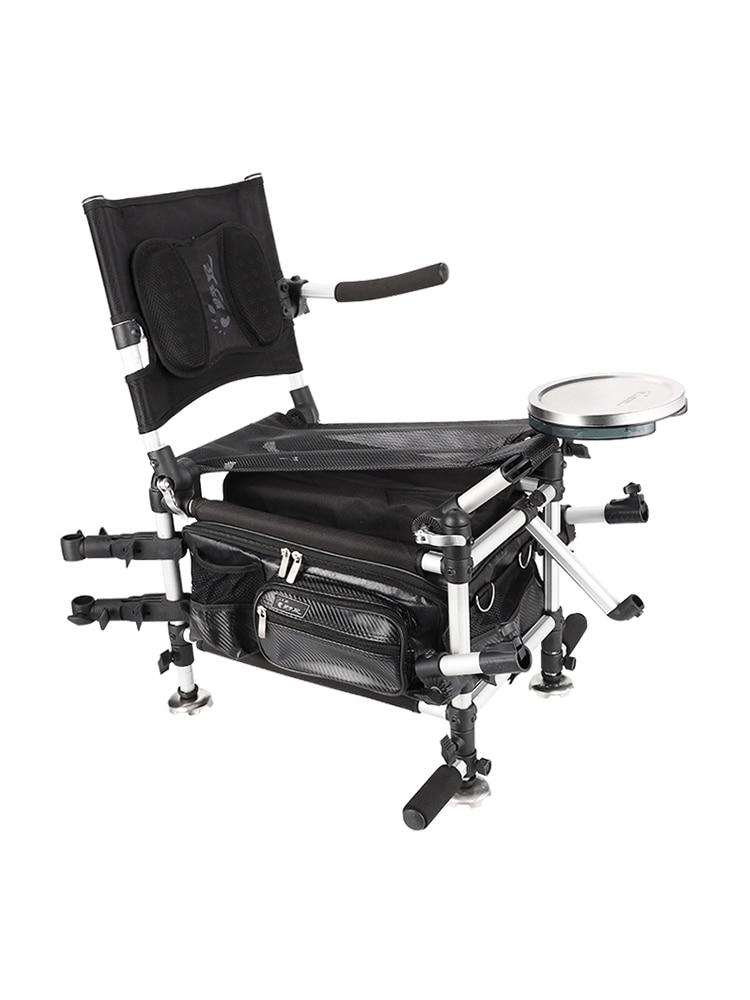 New Folding fishing chair portable fishing box light multi-function shoulder strap back Comfortable backrest Chair fishing box