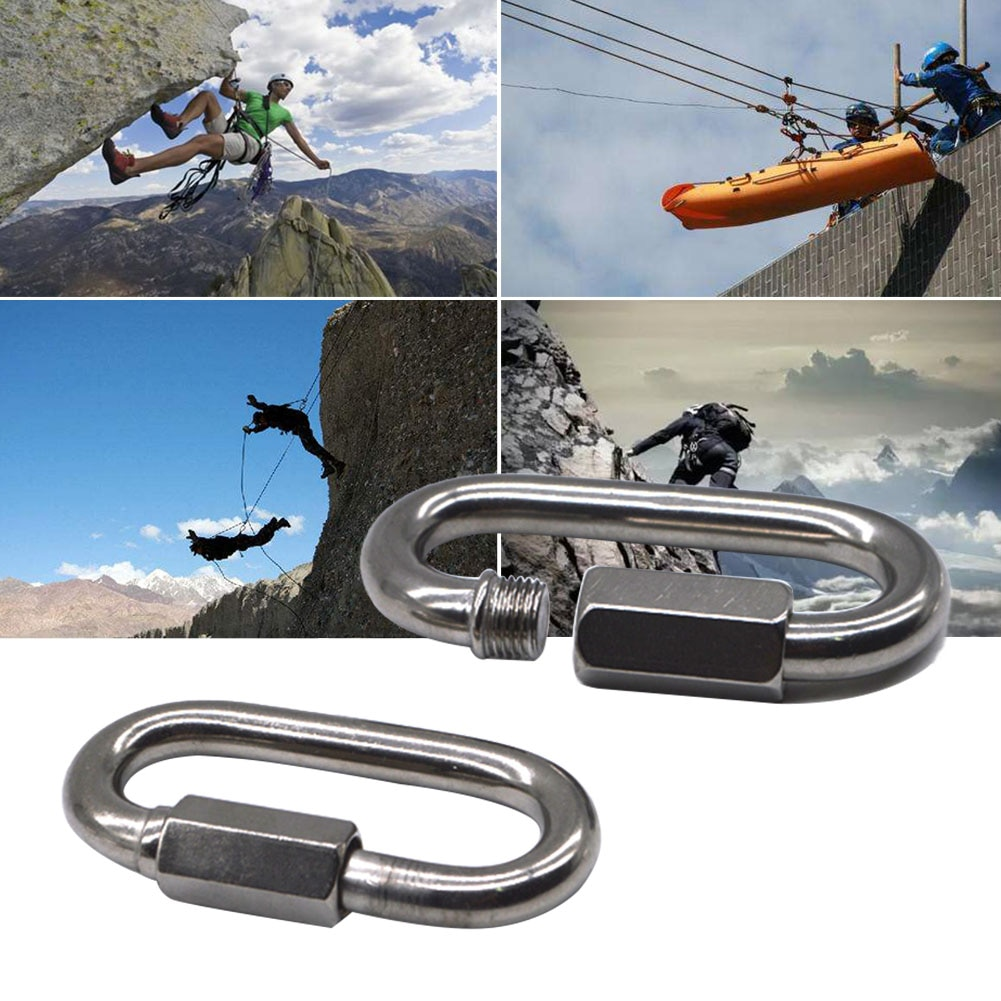 Compacto, pesca, escalada, duradero, Oval, hebilla para llavero, mosquetón, Clip, conector, gancho de montañismo, fiable al aire libre