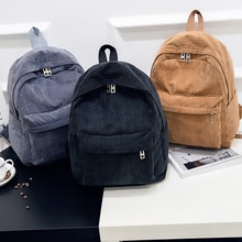 Plecak sztruksowy moda damska torba na ramię Pure Color plecak damski Teenger Girl School torby damskie Mochila Bagpack Pack