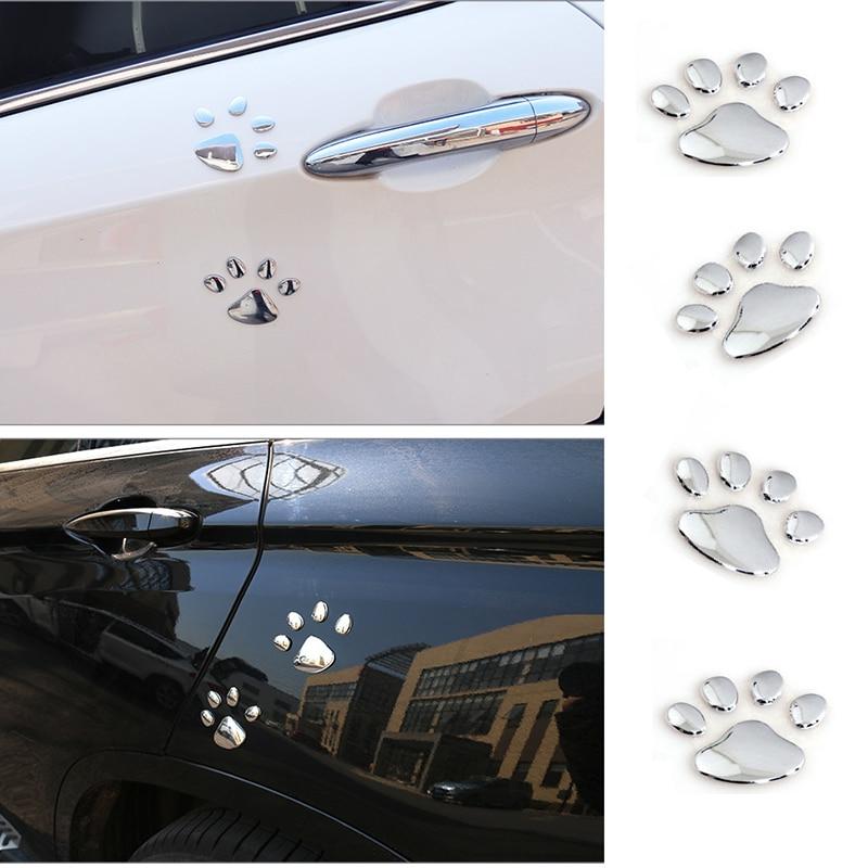2 piezas pegatina de coche diseño fresco Paw 3D Animal perro gato oso pie huellas huella para Opel Astra VAUXHALL MOKKA zafira Insignia