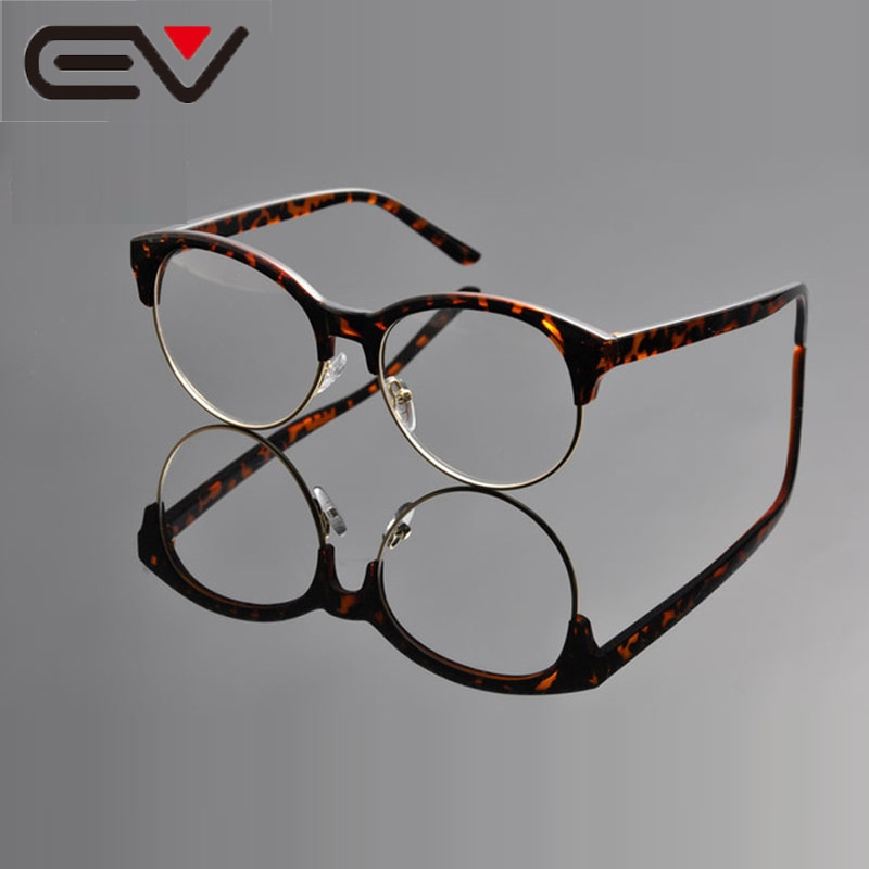 Design da marca do vintage simples masculino óculos redondos armação óptica retro oculos de grau feminino gafas deding ev0974