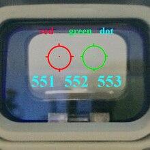 551 552 553 Rood Groen Dot Sight Scope Hunting Holografische Reflex Sight Riflescope Met 20mm Mount Voor Geweer Airsoft gun