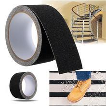 MTGATHER Black Floor Safety Non Skid Tape Roll Anti Slip Adhesive Stickers High Grip 300cm x 5cm