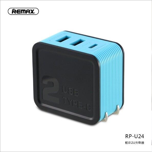 Remax двойной USB выход и typec порт 3.4a Быстрая зарядка огнеупорный ПК умный чип маленькое и изысканное портативное зарядное устройство