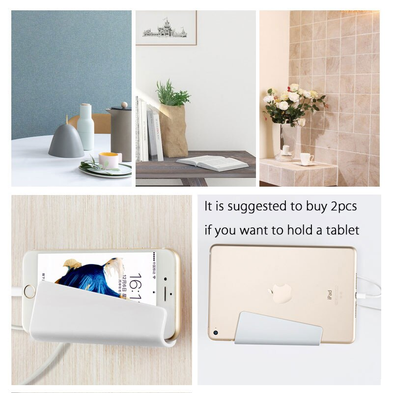 Universal Wall Charger Phone Holder Mount Stand for iPhone 7 Samsung Xiaomi Huawei Cell Mobile Phone Mount Holder Base Support
