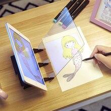 Tablero de dibujo de imagen óptica lente boceto reflexión especular soporte de regulación cuadro con imagen de espejo Placa de seguimiento Tabla de copia