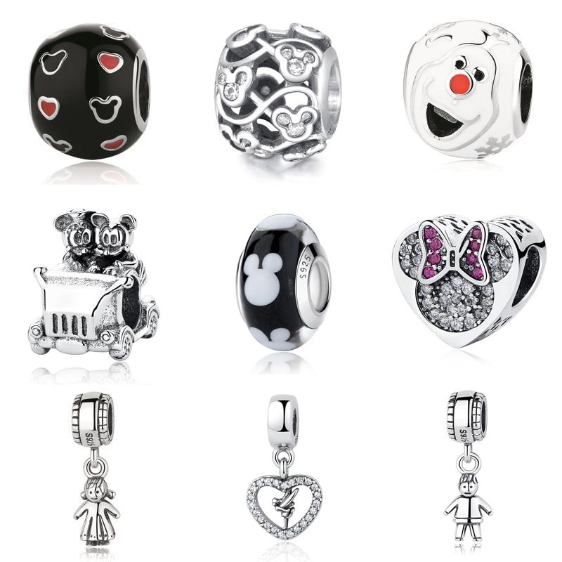 Authentic Sterling Silver 925 Charm Fit Pandora Original Bracelet Diy Charms Beads Fairy Tale Cute Boy & Girl Pendant Beads