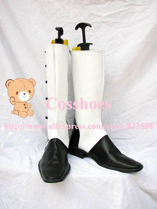 Custom made circus colonel gray shoes boots from black butler Kuroshitsuji Cosplay