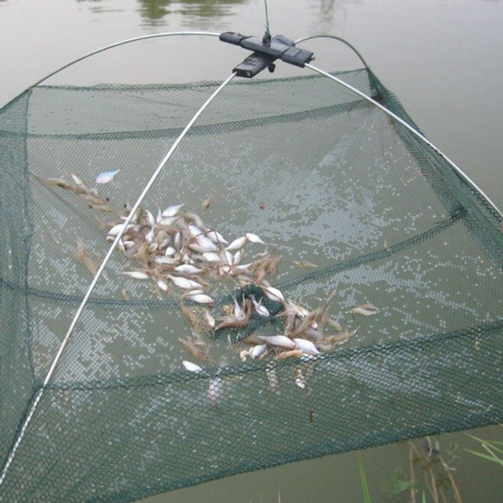 Las redes de pesca de malla plegable cebos trampa Red de inmersión para lanzar cangrejo camarones olía a Anguila cangrejo langosta peces camarones y langosta neto 2 tamaños