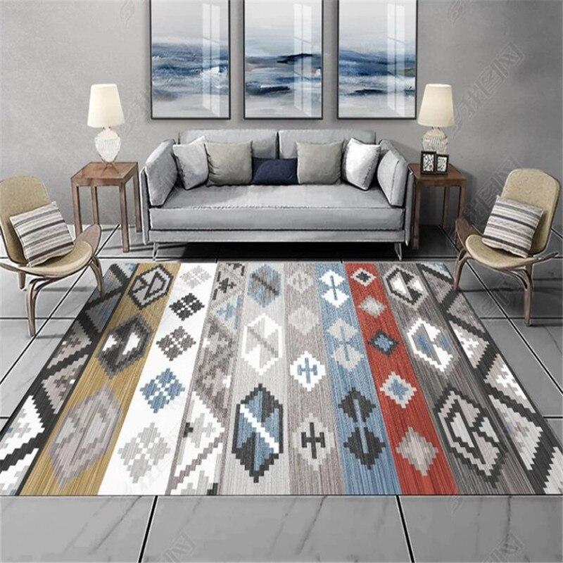 Vintage Large Big Area Rugs Carpets For Home Living Room Anti-skid Morocco Carpet Nordic Ethnic Geometric Door Mat Tapis Salon
