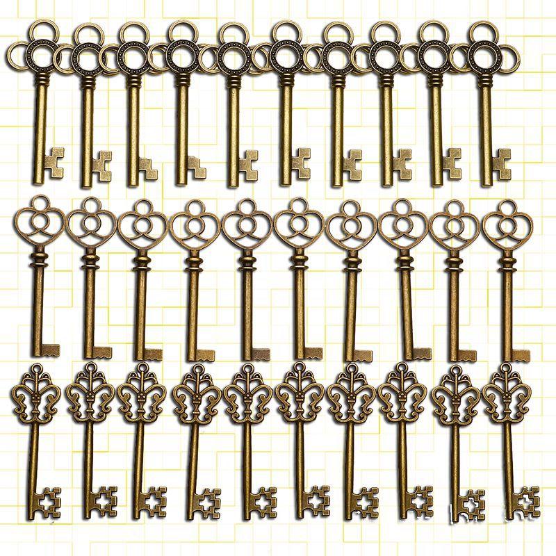KiWarm-grand squelette décoratif Vintage   Bricolage, 30 pièces, décoration suspendue en Bronze Antique, pendentif de mariage, bijoux à bricoler, Bracelet personnel