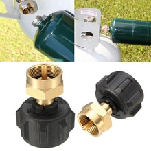 Extérieur utile 1LB réservoir gaz Propane QCC1 régulateur Valve Propane recharge adaptateur Kit barbecue