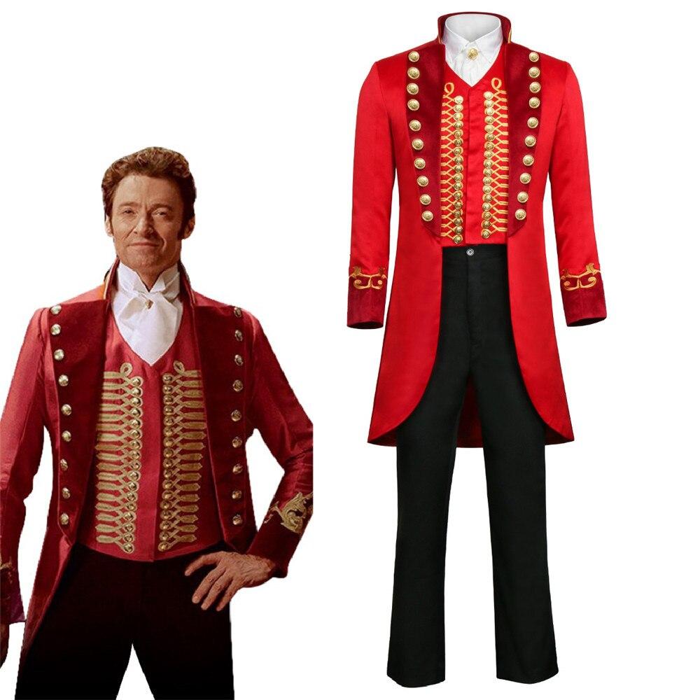 2018 película caliente el mejor Showman P.T. Barnum Cosplay traje adulto hombre conjunto uniforme completo Halloween carnaval Cosplay