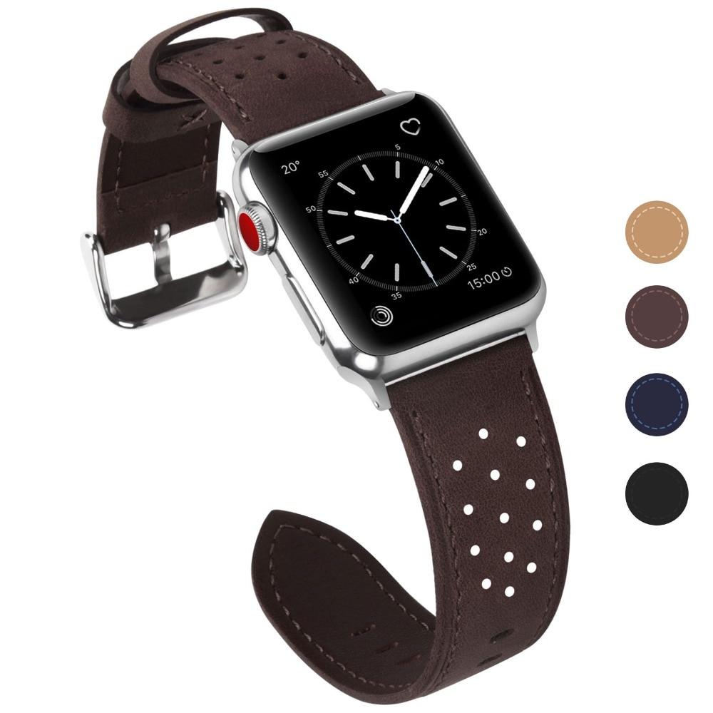 Ремешок для часов Fullmosa для Apple Watch, 38 мм, 42 мм, сменный кожаный ремешок iWatch для iWatch Series 3, 2, 1, Hermes & Nike +