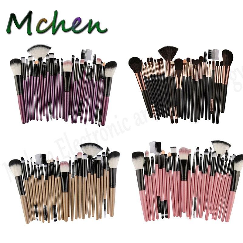 Новинка 25 шт. набор кистей для самостоятельного макияжа тени век ресницы губ