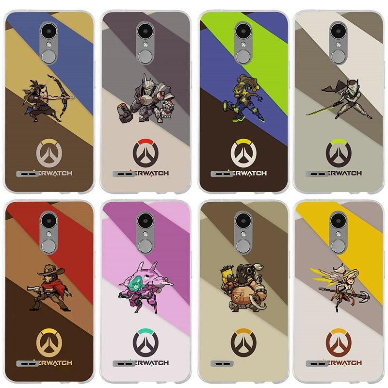 Overwatchs ¡héroe Logotipo de teléfono TPU suave para LG V10 V20 V30 G2 G3 Mini G4 Stylus G5 G6 K4 K7 K8 K10 2017 Nexus 5X bolsas