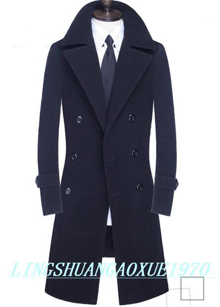 Зимнее шерстяное пальто, мужские тренчкоты, облегающее модное повседневное пальто, Мужское пальто, двубортное Мужское пальто, Женское паль...