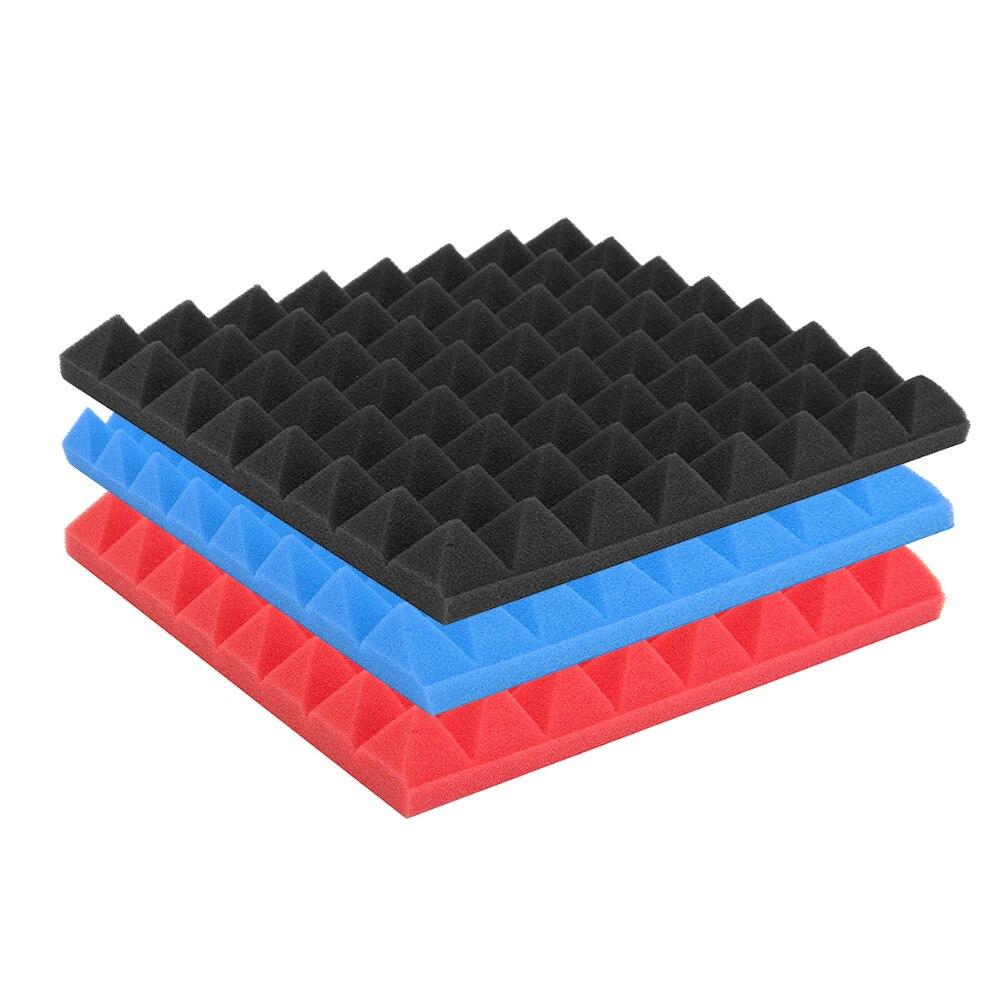25x25x4cm pirámide insonorizante espuma acústica absorbente de sonido tratamiento de absorción de sonido cuña azulejos paquete estudio/música
