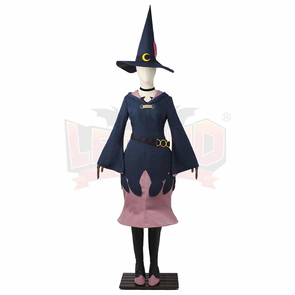 Cosplaylegend pequeña bruja Academia profesor Ursula vestido de bruja traje halloween disfraz traje de las mujeres traje