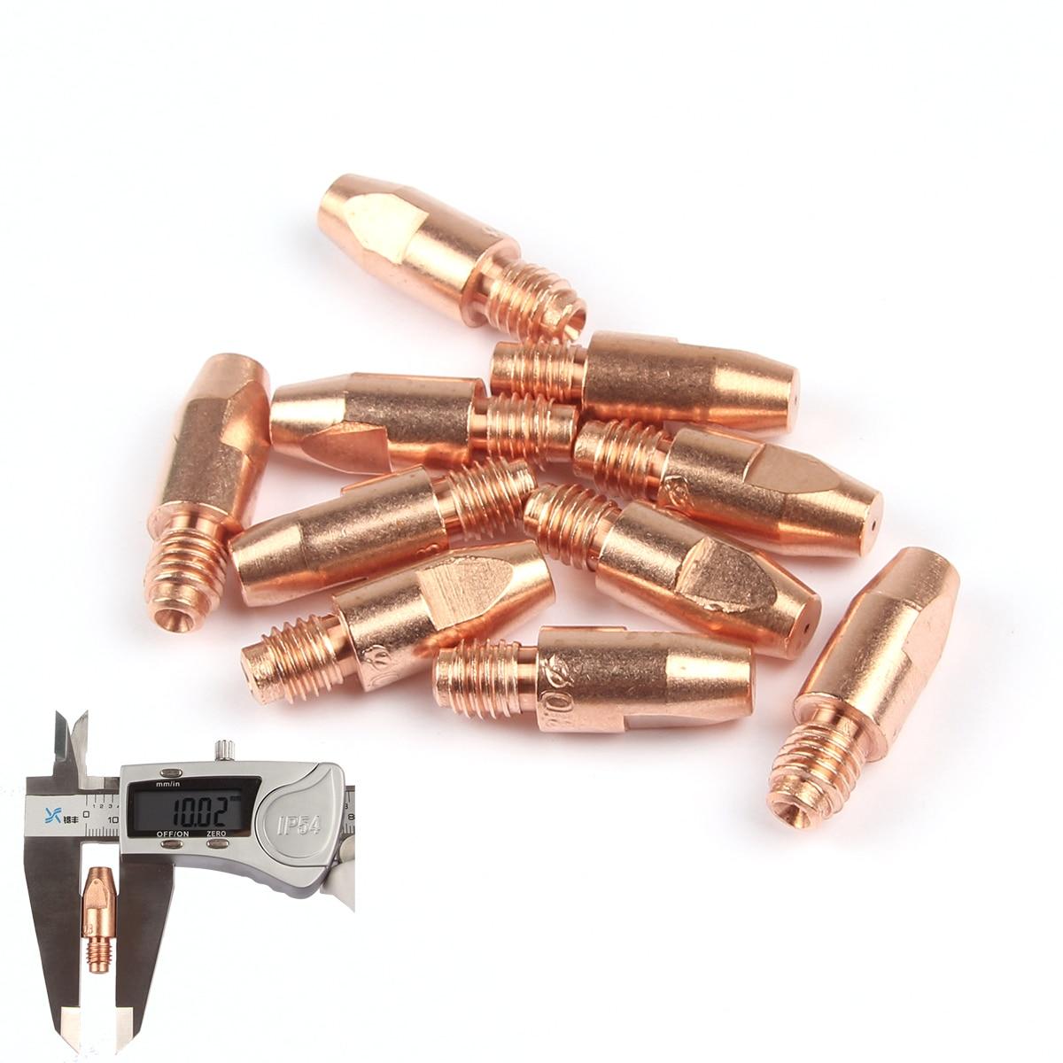 10 Uds MB 36KD puntas de contacto consumibles M8 * 30mm 0,8/1,0/1,2mm soporte antorcha pistola boquilla MIG/MAG Co2/Gas accesorios herramienta de soldadura