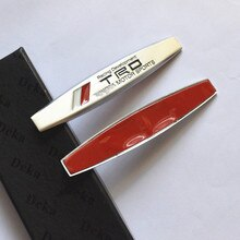 2 stücke Der seite emblem aufkleber aluminium metall der logo aufkleber Für Toyota CROWN REIZ TRD Racing LOGO
