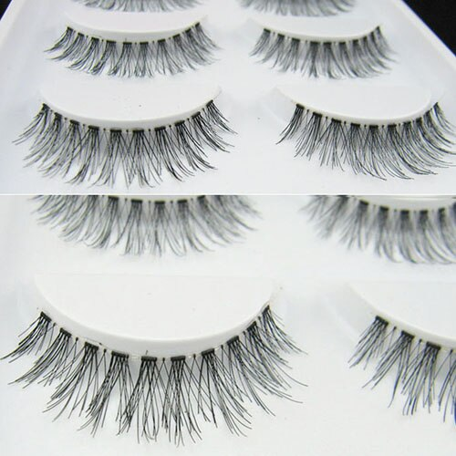 5 pares de extensiones de pestañas entrecruzadas naturales hechas a mano, maquillaje, pestañas largas falsas 8TNT